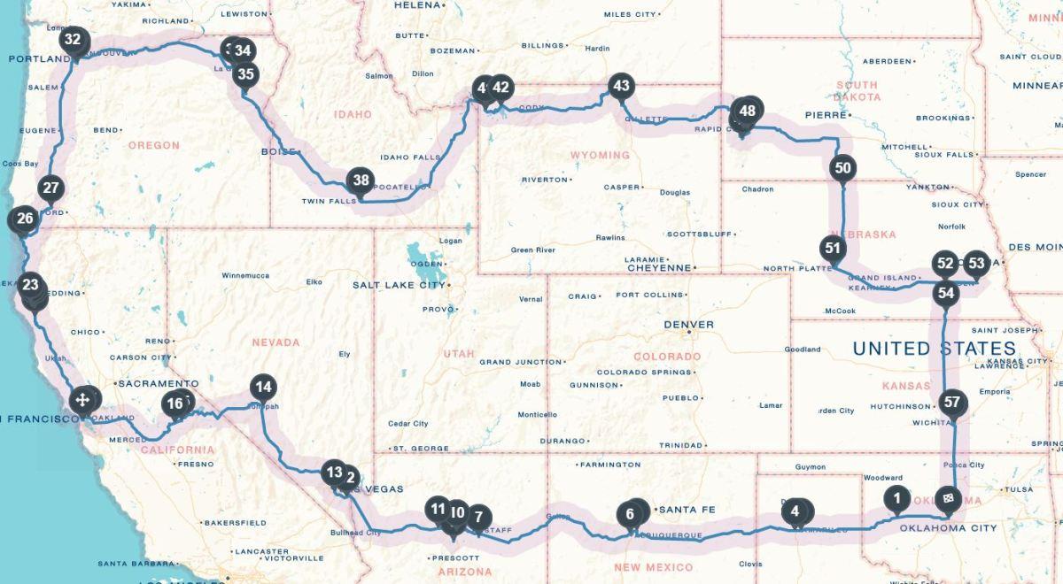 Road Trip Map 2016
